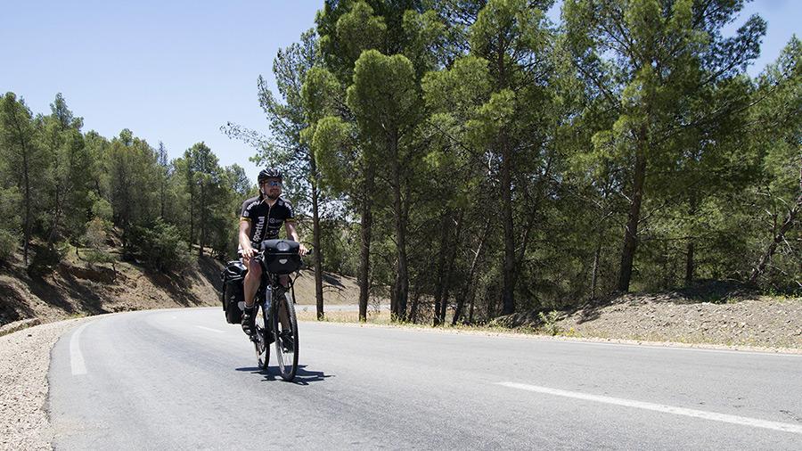 Karol Voltemár na bicykli Maroko