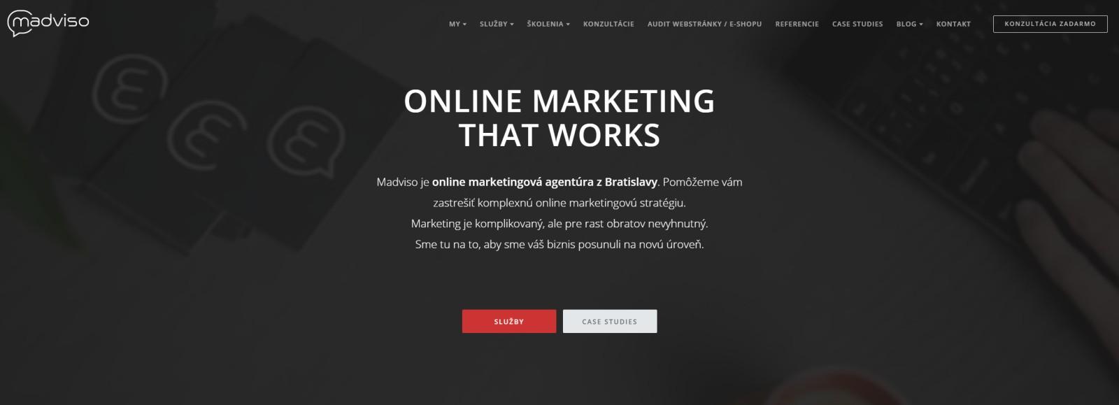 Madviso webstránka