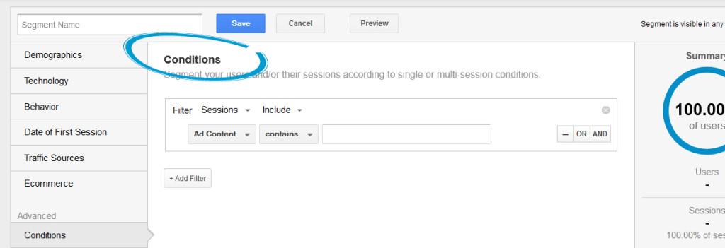 Segmentácia Google Analytics